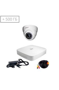 Комплект видеонаблюдения Dahua HDCVI-1D KIT + HDD500GB