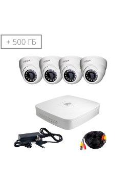 Комплект видеонаблюдения Dahua HDCVI-4D KIT+ HDD500