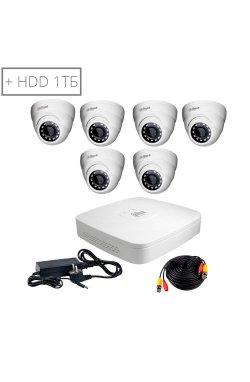 Комплект видеонаблюдения Dahua HDCVI-6D KIT+ HDD1000