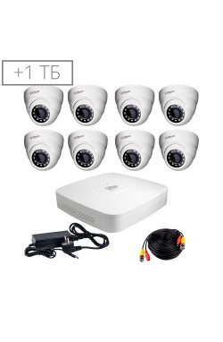 Комплект видеонаблюдения Dahua HDCVI-8D KIT+ HDD1000