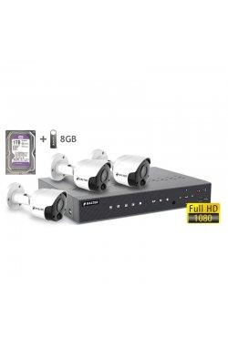 Комплект видеонаблюдения BALTER KIT 2MP 3bullet 1ТБ