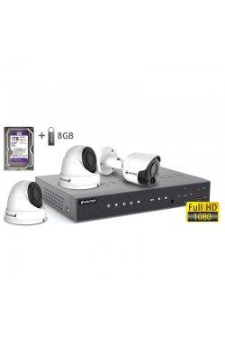 Комплект видеонаблюдения BALTER KIT 2MP 1bullet 2dome 1ТБ