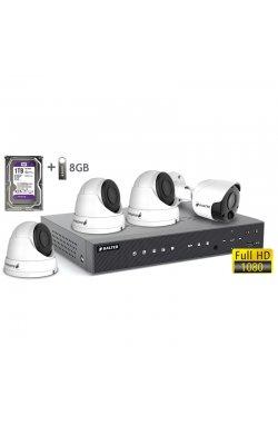 Комплект видеонаблюдения BALTER KIT 2MP 1bullet 3dome 1ТБ