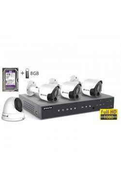 Комплект видеонаблюдения BALTER KIT 2MP 3bullet 1dome 1ТБ