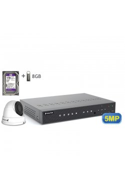Комплект видеонаблюдения BALTER KIT 5MP 1dome 1ТБ