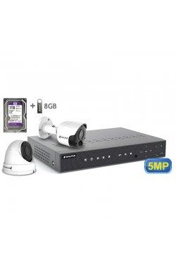 Комплект видеонаблюдения BALTER KIT 5MP 1bullet 1dome 1ТБ