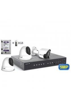 Комплект видеонаблюдения BALTER KIT 5MP 1bullet 2dome 2ТБ