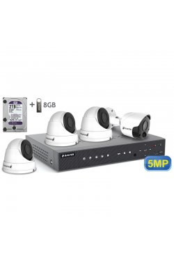 Комплект видеонаблюдения BALTER KIT 5MP 1bullet 3dome 2ТБ