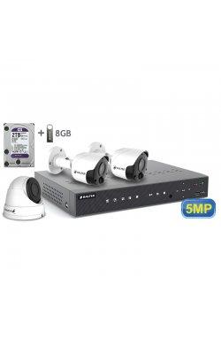 Комплект видеонаблюдения BALTER KIT 5MP 2bullet 1dome 2ТБ