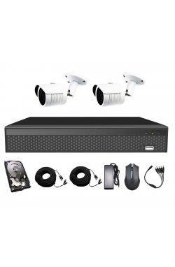 Комплект видеонаблюдения CoVi Security AHD-2W 5MP MasterKit + HDD500