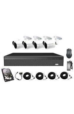 Комплект видеонаблюдения CoVi Security AHD-4W 5MP MasterKit + HDD500