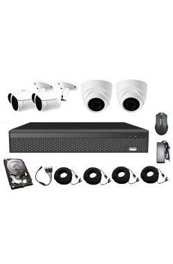 Комплект видеонаблюдения CoVi Security AHD-22WD 5MP MasterKit + HDD500