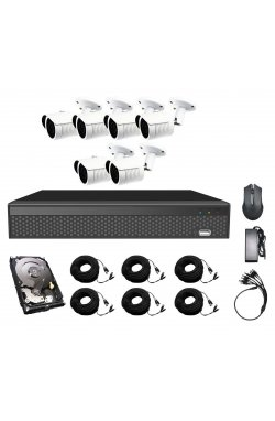 Комплект видеонаблюдения CoVi Security AHD-6W 5MP MasterKit + HDD1000