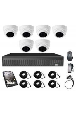 Комплект видеонаблюдения CoVi Security AHD-6D 5MP MasterKit + HDD1000