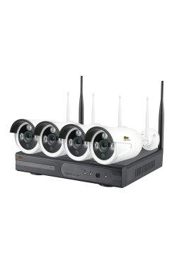 1.0MP Набор для улицы Wi-Fi PARTIZAN IP-33 4xCAM + 1xNVR
