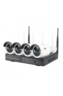 2.0MP Набор для улицы Wi-Fi PARTIZAN IP-32 4xCAM + 1xNVR