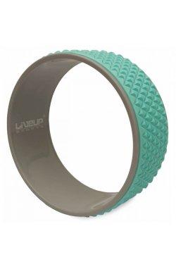 Колесо для йоги и фитнеса LiveUp YOGA RING голубой
