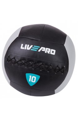 Мяч для кроcсфита LivePro WALL BALL черный/серый