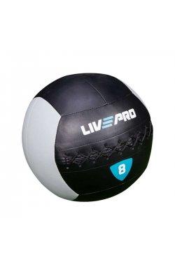 Мяч для кросcфита LivePro WALL BALL черный/серый