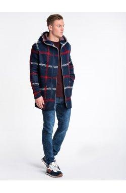 Sweter męski E161 - темно-темно-синий