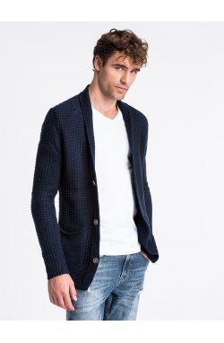 Sweter męski E164 - темно-синий