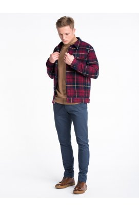 Куртка мужская демисезонная (осень-весна) K428 - Темно- красный