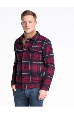 Men's Autumn jacket C428 - Темно- красный
