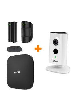 Комплект сигнализации Ajax StarterKit Black + 1.3 МП IP видеокамера Dahua DH-IPC-C15P