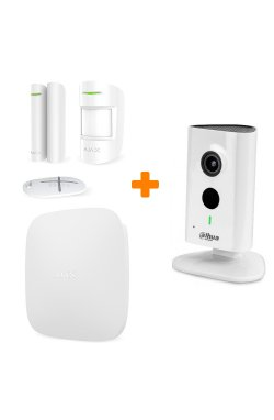Комплект сигнализации Ajax StarterKit White + 1.3 МП IP видеокамера Dahua DH-IPC-C15P