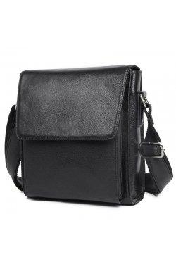 Слинг сумка 7055A John McDee из натуральной кожи Черный