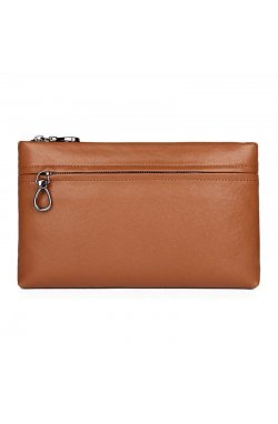Стильный кожаный клатч для мужчин JD C010LD коричневый Коричневый