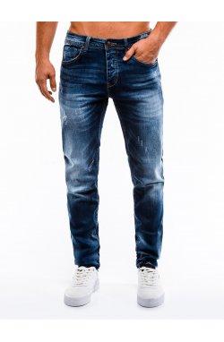 Spodnie męskie jeansowe P855 - синий
