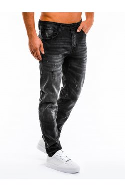 Spodnie męskie jeansowe P855 - Черный