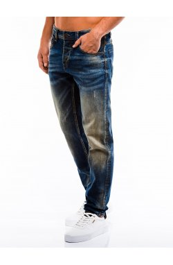 Spodnie męskie jeansowe P860 - синий