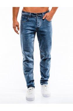 Spodnie męskie jeansowe P863 - синий