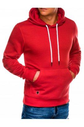 Мужская толстовка с капюшоном T979 - красный