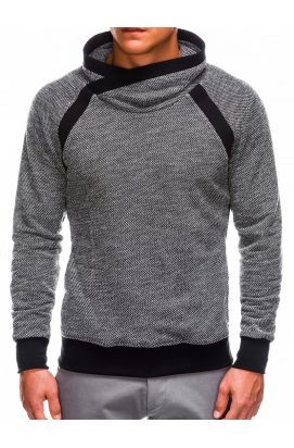 Men's stand-up collar sweatshirt B678 - черный