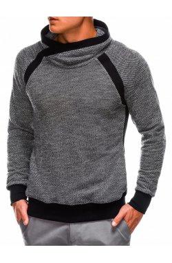 Bluza męska ze stójką B678 - Черный