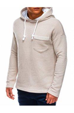 Men's hooded sweatshirt B963 - бежевый