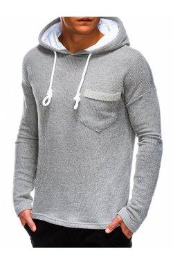 Men's hooded sweatshirt B963 - Серый