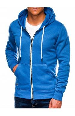 Bluza męska rozpinana z kapturem B977 - синий