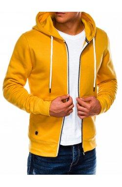 Bluza męska rozpinana z kapturem B977 - Желтый