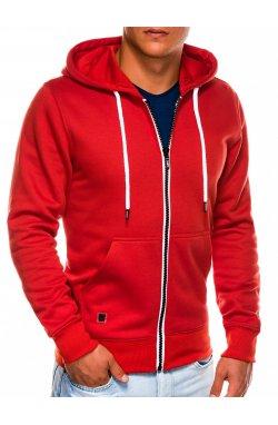 Bluza męska rozpinana z kapturem B977 - Красный