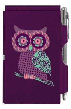 Карманный блокнот с ручкой Owl - wos5241