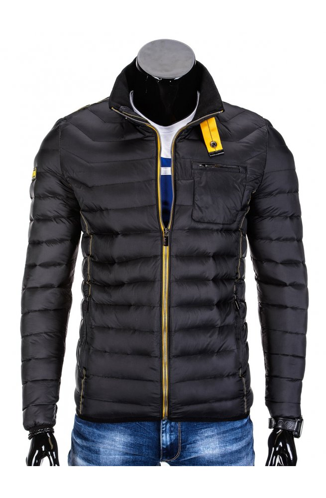 Куртка мужская демисезонная стеганая K292 - черный