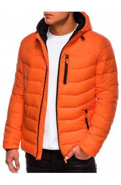 Куртка мужская демисезонная стеганая K371 - оранжевый