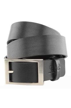 Ремень GRANDE PELLE 00239 кожаный Черный, Черный