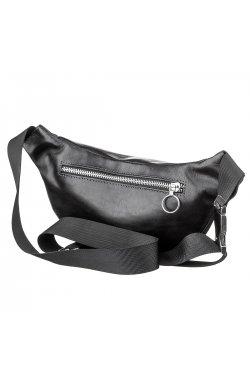Поясная сумка GRANDE PELLE 11140 черная, Черный