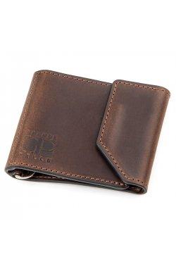 Зажим для денег винтажный GRANDE PELLE 11148 Коричневый, Коричневый
