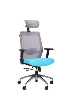 Кресло Install Black Alum Grey/ Light Blue